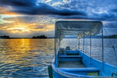 Water Taxi Sunset   Flores, Guatemala   Image by Indiana Architectural Photographer Jason Humbracht